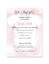 Product Image For Invitation Announcement Pink Onesie