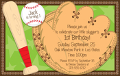 Product Image For Little Slugger Digital Invitation