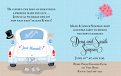 Product Image For Just Married Limo Digital Invitation