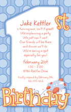 Product Image For 1st Birthday Boy Digital Invitation