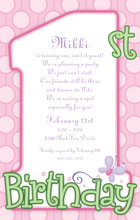 Product Image For 1st Birthday Girl Digital Invitation