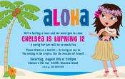 Product Image For Hula Girl Digital Invitation