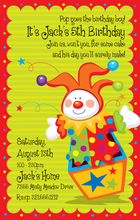 Product Image For Clown in the Box Digital Invitation