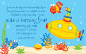 Product Image For Yellow Submarine Digital Invitation