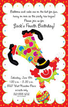 Product Image For Party Clown Digital Invitation