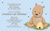 Product Image For Teddy Bear Blue Digital Invitation