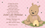Product Image For Teddy Bear Pink Digital Invitation