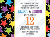 Product Image For Big Stars Digital Invitation