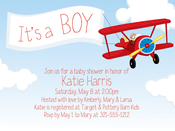 Product Image For Airplane and Banner Digital Invitation