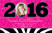 Product Image For Zebra and Damask Grad Digital Photocard