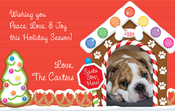 Product Image For Gingerbread Dog House Digital Photocard