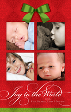 Product Image For Christmas Bow Red Damask Digital Photocard
