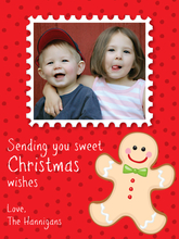 Product Image For Gingerbread Man Digital Photocard