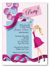 Product Image For Balloon Party Invitation