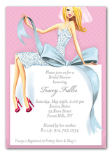Product Image For Beautiful Blonde on Box Invitation