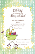 Product Image For Oh Baby! Buggy Invitation