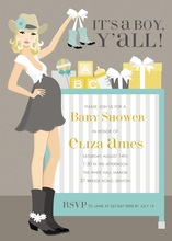 Product Image For Cowgirl Crib - Blue (Blonde) Invitation