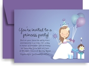 Product Image For Princess Peyton in Purple Invitation