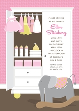 Product Image For Pink Baby Armoire Invitation
