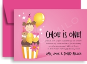 Product Image For Chloe's Cupcake Invitation