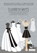 Product Image For The Right Dress - B&W Invitation