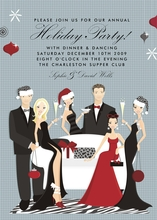 Product Image For Glamour Group Holiday Party Invitation