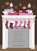 Product Image For Magical Mantle - Pink and Brown Invitation