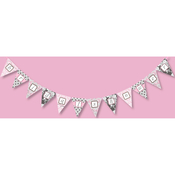 Product Image For Brocade Bridal Shower Partyware in Pink Banner
