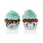 Product Image For Vavavoom Vintage Baby Blue Partyware Cupcake Wraps