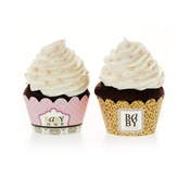 Product Image For Leopard & Love Baby Pink Cupcake Wraps