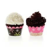 Product Image For Modern Mama Pink Partyware Cupcake Wraps