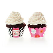 Product Image For Bold Baby Bliss Pink Partyware Cupcake Wraps
