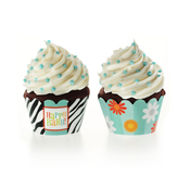 Product Image For Bold Baby Bliss Blue Partyware Cupcake Wraps