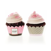 Product Image For Classic Chic Baby Pink Partyware Cupcake Wraps