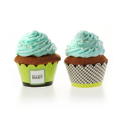 Product Image For Classic Chic Baby Blue Partyware Cupcake Wraps