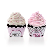 Product Image For Wishes & Whimsy Bridal Shower Partyware in Pink - Cupcake Wraps