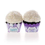 Product Image For Classic Carnival Birthday Partyware (Purple) - Cupcake Wraps
