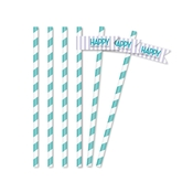 Product Image For Classic Carnival Birthday Partyware (Purple) - Straw Flags