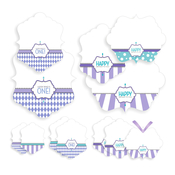 Product Image For Classic Carnival Birthday Partyware (Purple) - Treat Tags