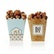 Product Image For Leopard & Love Baby Blue Partyware - Treat Boxes