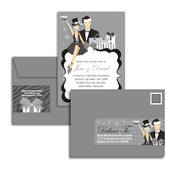 Product Image For Silver and White Winter Couple Glam Mail Address Labels and Coordinating Envelopes