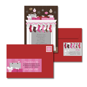 Product Image For Magical Mantile - Pink & Brown Glam Mail Address Labels and Coordinating Envelopes