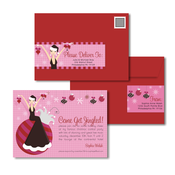 Product Image For Ornament Cocktail Girl Glam Mail Address Labels and Coordinating Envelopes