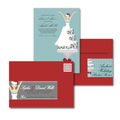 Product Image For Christmas Cake Bride Glam Mail Address Labels and Coordinating Envelopes