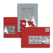 Product Image For Glamour Girl Bride - Holiday Glam Mail Address Labels and Coordinating Envelopes