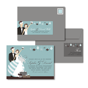 Product Image For Ornament Bride & Groom Glam Mail Address Labels and Coordinating Envelopes