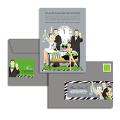 Product Image For Time to Toast! Glam Mail Address Labels and Coordinating Envelopes