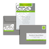 Product Image For Festive Flourish (Lime) Glam Mail Address Labels and Coordinating Envelopes