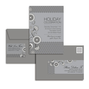 Product Image For Silver Lace & Floral Glam Mail Address Labels and Coordinating Envelopes