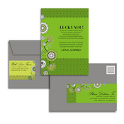 Product Image For Green Floral & Lace Glam Mail Address Labels and Coordinating Envelopes